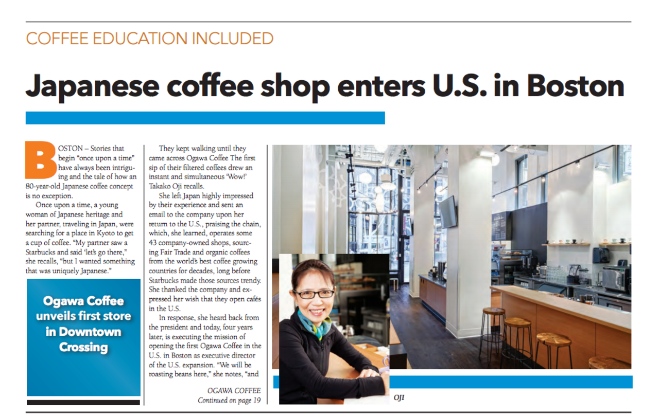Image of Ogawa article in FoodService East
